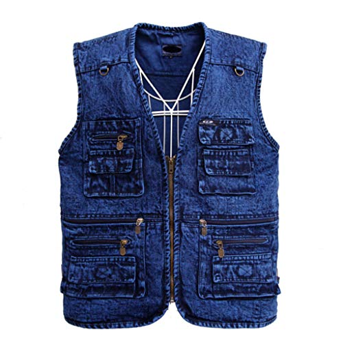 Multi Pockets Weste,Baumwolle Angeln Fotografie Vest Dünn Atmungsaktivität Gilet Outdoor
