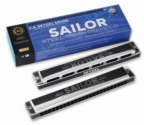 Seydel Sailor Steel A-moll 48 Mundharmonika , Edelstahl-Stimmzungen, Tremolo