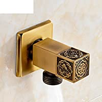 Todo válvula de ángulo de cobre engrosamiento/llave de paso de agua caliente y fría