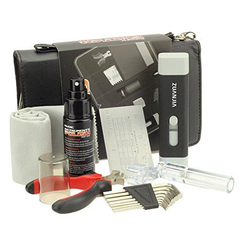 Zuanjia Reparatur- und Reinigungs-Set für Gitarren, professionell, zum Wechseln Gitarrensaiten, vollständiges Wartungsset mit Saitenkurbel, Saitenschneider, Saitenreiniger und Bridge Pin Puller
