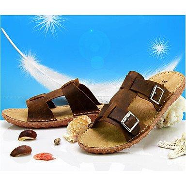 Slippers & amp da uomo;Primavera Estate Autunno in pelle Nappa Luce Soles Ufficio esterno & amp;carriera sandali US7 / EU39 / UK6 / CN39