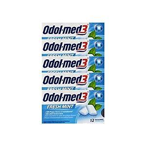 5x ODOL MED 3 Fresh Mint Kaugummi PZN 34157