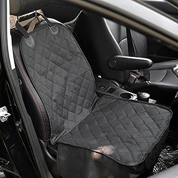 Amzdeal Couverture de siège Pet Tapis Animaux Housse de Protection de Voiture Imperméable et Lavable avec Ceinture de Sécurité Pour chien 40 * 20 pouces (noir)