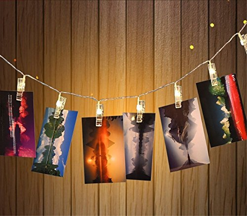 Lights String 20 2.6M Foto Clip-LED für Suspend Fotos, Batterien mit Strom versorgt, warmes Weiß Farbe oder die Multi Auswahl, Raumdekoration für Valentinstag / Neujahr / Weihnachten / Halloween / Geburtstags-Party (Raum Geburtstag Versorgt)