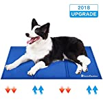 Lauva Dog Cool Mat, Dogs Self Cooling Non-Toxic Gel Mat Pads Mattress Pet Cat Cool Beds Extra Large for Dog Crates… 9