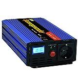 inversor de corriente 1200 2500w onda modificada 12v a 220v transformador onda modificada LCD