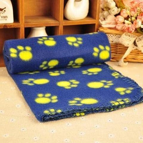 Mascota mantas manto familia perro de franela caliente edredón mascotas calor manta mat impresión 4 colores,blue