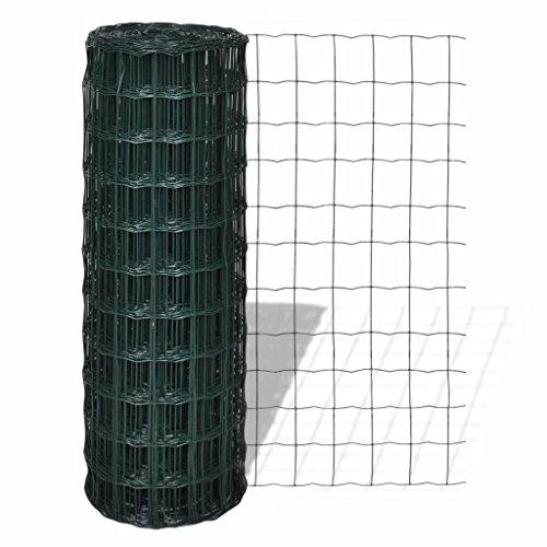 Zora Walter réseau clôture Style européen 10 x 0,8 m avec mailles 100 x 100 mm de clôture jardin barrières extérieures Grillage clôture accessoires clôture Kit extérieur