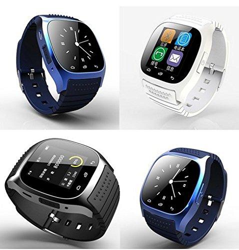 Smartwatch M26 indossabile con Bluetooth, touch screen, display con luce LED, con quadrante, promemoria SMS, lettore musicale, contapassi per telefono cellulare