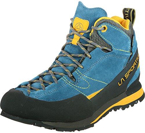 La Sportiva Boulder X Mid, Stivali da Escursionismo Alti Unisex-Adulto, Multicolore (Blue/Yellow 000), 46 EU