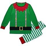 Homebaby Famiglia Pigiama di Natale Mamma papà Neonato Bambino Bebè Costume Striscia Abiti Tuta 2PC Uomo Donna Bambini Vestit