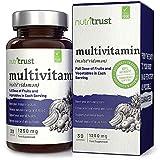 Multi-vitamines 1250mg par Nutritrust® - Ingrédients naturels et végétariens – Dose complète de fruits et légumes dans chaque comprimé facile à avaler – Bonne santé & système immunitaire reboosté