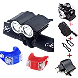 Super Bright New Design bike bicycle light 2x XML U2 5000 Lumens Bicycle