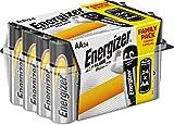 Energizer E91 - Pack de 24 pilas alcalinas AA, color negro