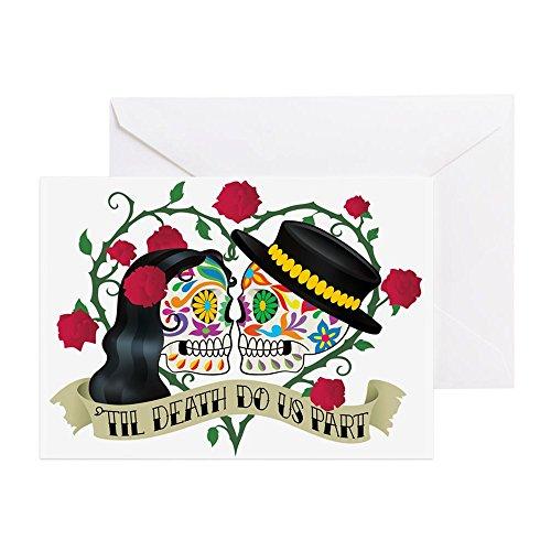 CafePress Hochzeits-Grußkarte zum Tag der Toten (englischsprachig), blanko innen matt