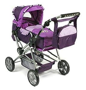 Bayer Chic 200056228 Kombi Roadstar Checker - Carrito de bebé para muñeca, Color Lila