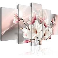 murando - Cuadro en Lienzo 200x100 cm - Formato Grande - Impresion en calidad fotografica - Cuadro en lienzo tejido-no tejido Flor b-A-0217-b-m