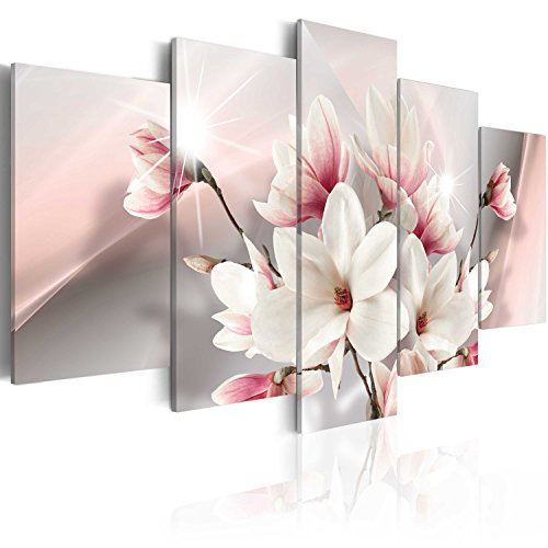 Cuadro en Lienzo 200x100 cm ! 5 Partes - Formato Grande - Impresion en calidad fotografica - Cuadro en lienzo tejido-no tejido Flor b-A-0217-b-m 200x100 cm B&D XXL