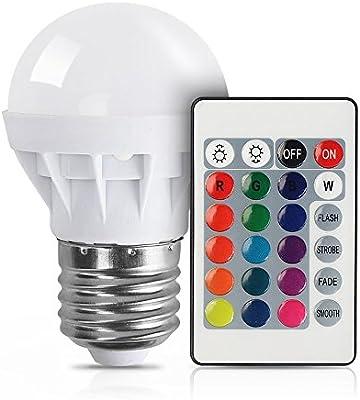 xjled última RGB E273W, AC85–265V, 150LM realizado Bombillas incandescentes Multicolor Cambiar Gran luminosidad AC85–265V Faros con un mando a iluminación decorativa