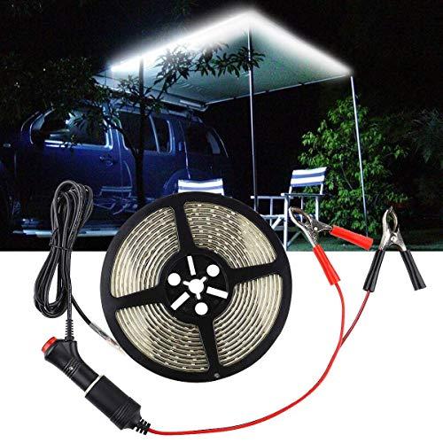 LED-Streifen Auto LED weiße Farbe wasserdichte Outdoor Camping Lichter mit 12V Auto Zigarettenanzünder Buchse Stecker Ladegerät Adapter für Auto, LKW Lieferwagen, Wohnmobil Kfz Geräte