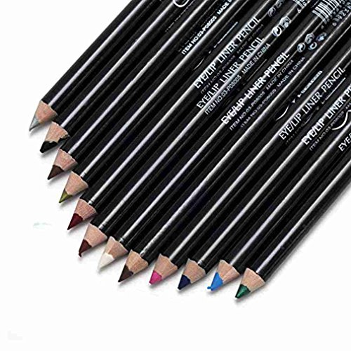 AKAAYUKO 12 Couleurs Eyeliner Cosmstiques Stylos Set Crayon De Maquillage