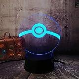 Lampada da tavolo sfera LED luce notturna 3D Illusion Lampada da scrivania 7 colori Decorazioni per la casa Ventilatori Festa per bambini Giocattoli Regalo di Natale