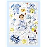 Creapop Sticker * Baby Boy - Taufe - Geburt * Aufkleber
