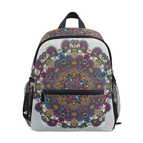COOSUN Floral Coloring Mini Kinderrucksack Pre-School Kindergarten Kleinkind-Tasche Mehrfarbig