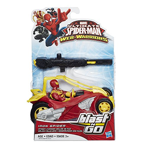 Spiderman Marvel Ultimate Spider Man Web Warriors Iron Spider Street Charger Vehicle