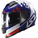 LS2 397-6104 Full Face Motorcycle Helmet (Blue, L)