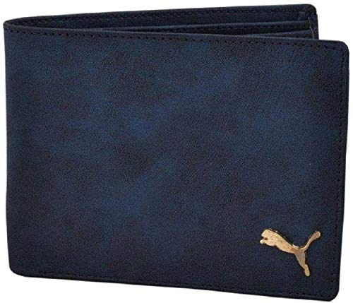 Neriya Men Dark Blue Artificial Leather Wallet  4 Card Slots