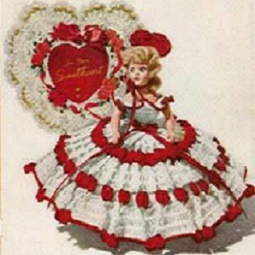 QUEEN OF HEARTS DOLL - A Vintage 1951 Crochet Pattern - Kindle Ebook Download (digital book, dolly, doll clothes, valentine, nursery rhyme) (English Edition)
