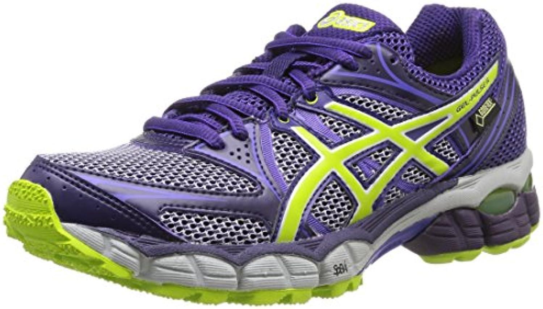 Asics Gel Pulse 6 G-Tx - Zapatillas de running para mujer, color D.Purp/Lime/Pur, talla 38