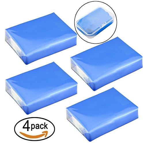 Barras de arcilla para limpiar el coche, de 400 g, vienen con 4 estuches de almacenamiento, limpiador mágico de barra, 4 unidades