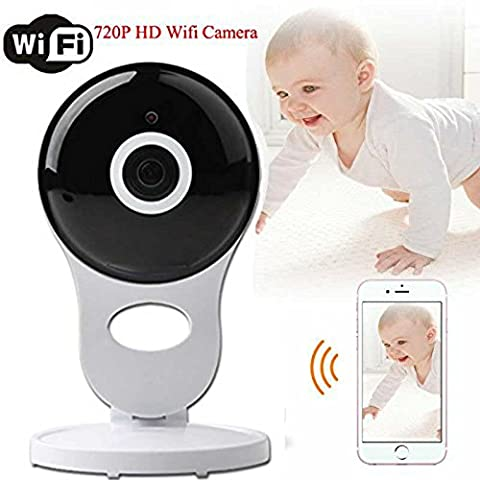 Home Camera Mini Baby Pet Monitor Wireless IP Security Surveillance System White