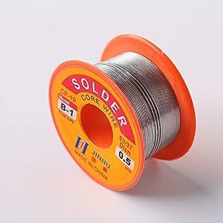 Tiptiper Alambre de soldadura sin plomo con núcleo de resina, Soldadura de colofonia, estaño, plomo, electrónica, hilo, soldadura, hilo, carrete, 0.5mm, 0.6mm, 0.8mm, 1.0mm
