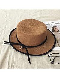 DT YMLE A Mujer Temperamento Colgante Otoño e Invierno Sombrero para el Sol  Lino Respirable Sombrero 7a43317879f