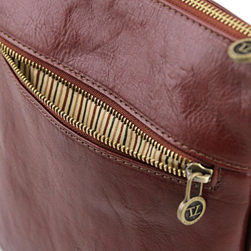 Tuscany Leather Jason - Borsello da uomo in pelle Marrone Borse uomo in pelle Nero
