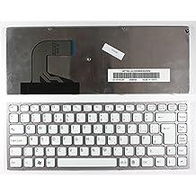 Keyboards4Laptops Sony Vaio VPC-S14AFJ Marco Rosa Blanco Layout Reino Unido Teclado de Repuesto para