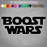 Generic Boost Wars 20x8cm Fun Aufkleber Star Wars Rebellion Opel VW Audi GTI JDM Trooper in 18 Farben