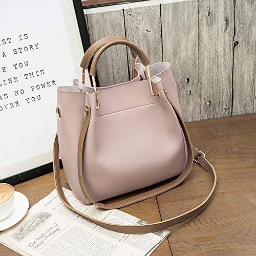 Handtaschenatmosphäre Umhängetasche schlanke minimalistische lässige Big Bag Handtasche rosa