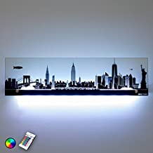 Tableau led new york - Cadre new york lumineux ...