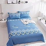 LIAIHONG Weiche, hautfreundliche, atmungsaktive Bettwäsche aus Baumwolle für Studentenwohnheime im Einzelstil 23 160 * 230 cm