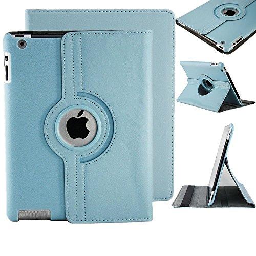 Preisvergleich Produktbild neuen Licht Blau PU Leder 360° rotierender Ständer Schutzhülle für iPad Pro 9,7