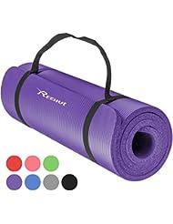 12fb4869961 REEHUT Colchoneta de Yoga de NBR de Alta Densidad y Extra Gruesa de 12mm  Diseñada para