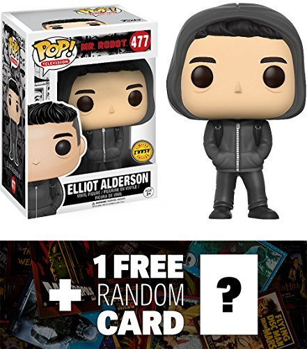 Elliot Alderson (Chase Edition): Funko POP! TV x Mr. Robot Vinyl Figure + 1 Free American TV Themed Trading Card Bundle (09877)