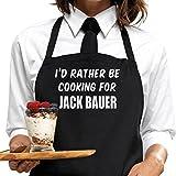 I 'd Rather BE cocinar para Jack Bauer delantal, por bertiesbrandtm. Idea de regalo para Fans, diseño y servicio de mensaje disponibles.