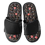 Tellaboull for Fußmassage Hausschuhe, Schuhe für die Gesundheitsfürsorge, Fußreflexzonenmassage-Sandalen, Fußpflege für ältere Menschen, Kieselstein