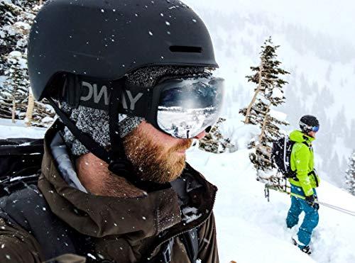Gafas de Esquí, eDriveTech Máscara Gafas Esqui Snowboard Nieve Espejo para Hombre Mujer Adultos Juventud Jóvenes Chicos Chicas Anti Niebla Gafas de Esquiar OTG Protección UV Magnéticos Esférica Lentes (Negro Marco/Plata Lente)