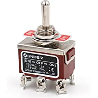 Heschen metal toggle switch 4PDT maintained ON//ON 2 position 15A 250VAC 10A 380VAC CE with waterproof cover